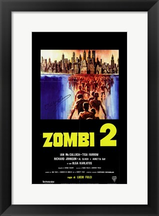 Framed Zombi 2 Swarm to Cities Print
