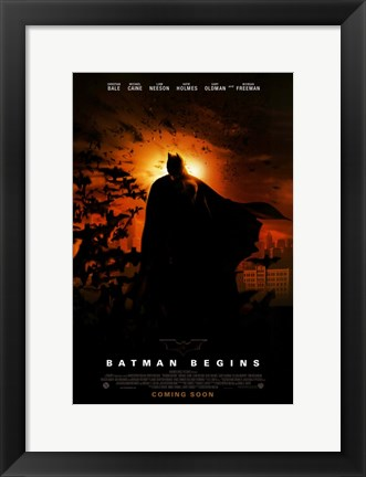 Framed Batman Begins Coming Soon Print