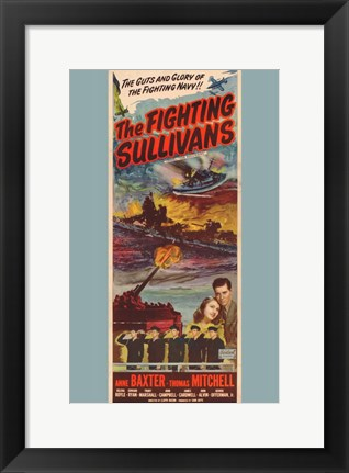 Framed Fighting Sullivans Print