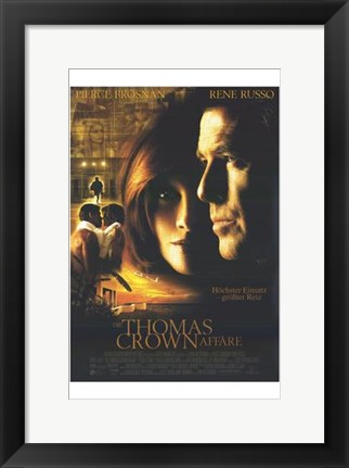Framed Thomas Crown Affair - Rene Russo Print