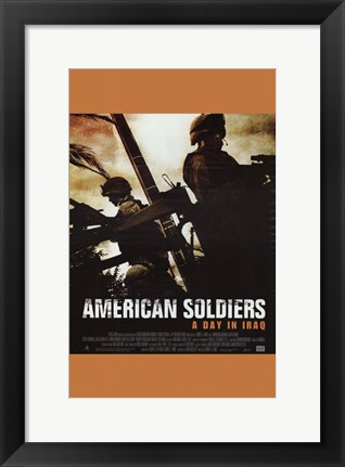 Framed American Soldiers Print