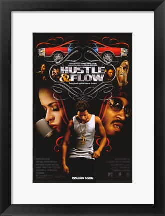 Framed Hustle and Flow Terrence Howard Print