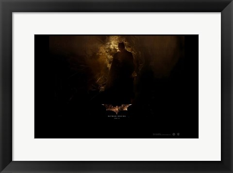 Framed Batman Begins Bats in Cave Print