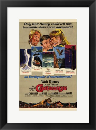 Framed in Search of the Castaways Disney Film Print