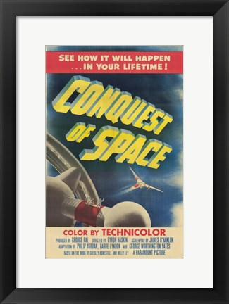 Framed Conquest of Space Print