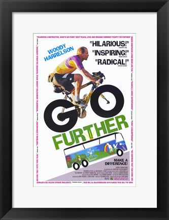 Framed Go Further Print