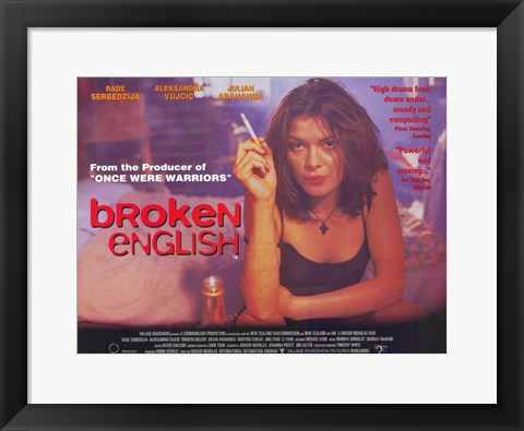 Framed Broken English Print
