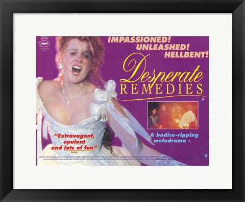 Framed Desperate Remedies Print