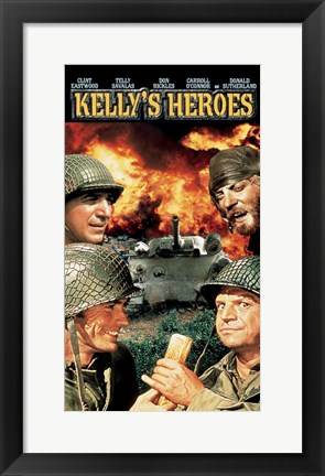 Framed Kelly's Heroes - Characters Print