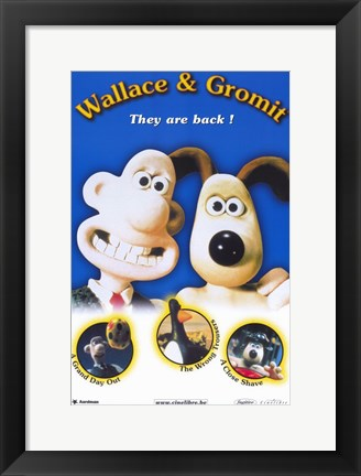 Framed Wallace  Gromit: the Best of Aardman Ani Print