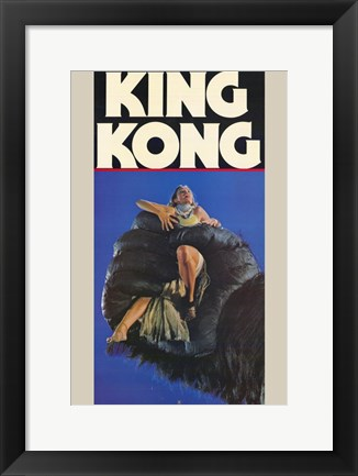 Framed King Kong fay Wray in Hand Print