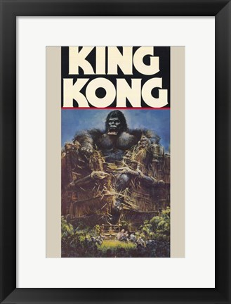 Framed King Kong Crushing Train I Print