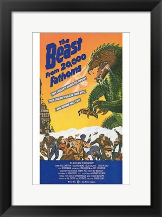 Framed Beast from 20 000 Fathoms Warner Bros. Print
