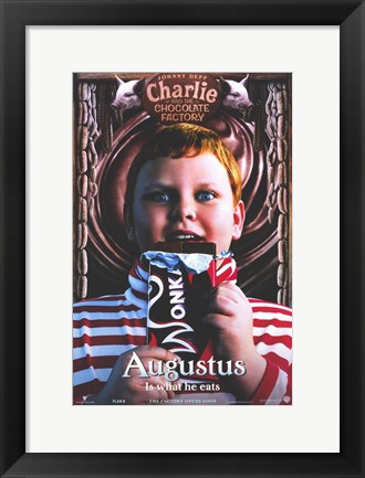 Framed Charlie and the Chocolate Factory Augustus Print
