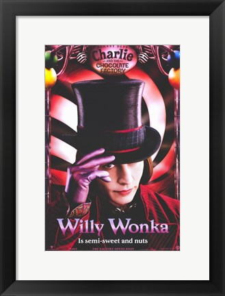 Framed Charlie and the Chocolate Factory Print