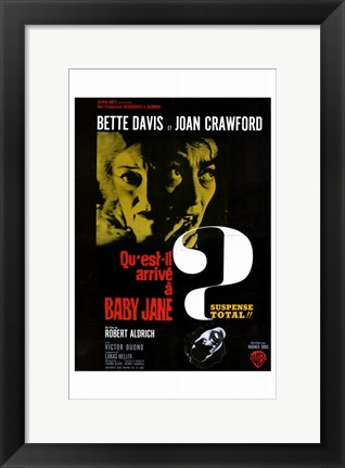 Framed Whatever Happened to Baby Jane - Bette Davis Print