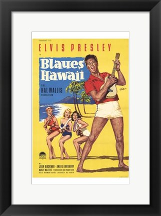 Framed Blue Hawaii Print