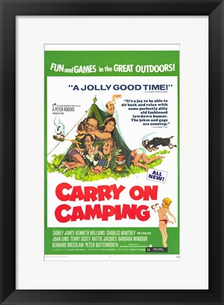 Framed Carry on Camping Print