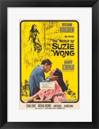 Framed World of Suzie Wong (movie poster) Print