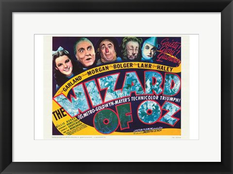 Framed Wizard of Oz Dark Print