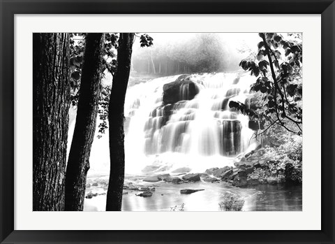 Framed Waterfall Lake Print