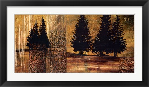 Framed Forest Silhouettes II Print
