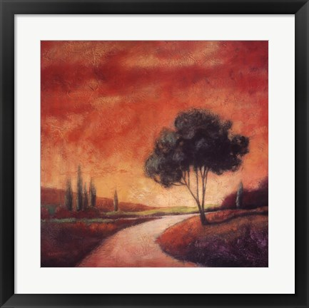 Framed Country Road I Print