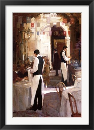 Framed Two Waiters, Place des Vosges Print