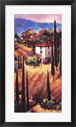 Framed Hills of Tuscany Print