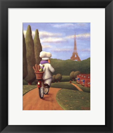 Framed Road to Paris Print