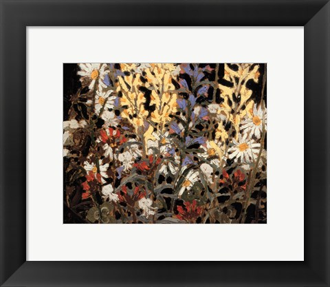 Framed Wildflowers Print