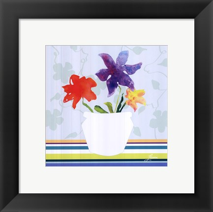 Framed Spring Stripes II Print