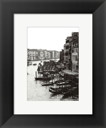 Framed Array of Boats, Venice Print