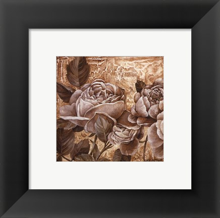 Framed Antique Rose I Print