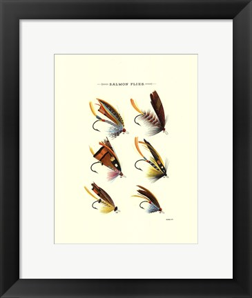 Framed Salmon Flies I Print