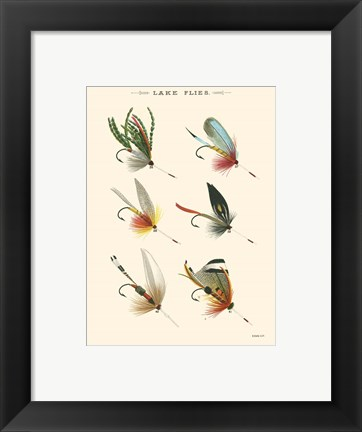 Framed Lake Flies I Print