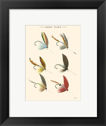 Framed Lake Flies II Print