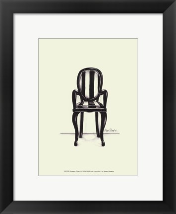 Framed Designer Chair I Print