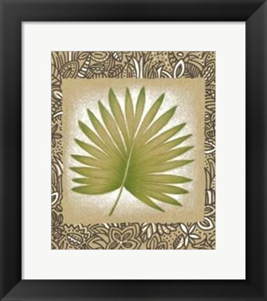 Framed Exotic Palm Leaf II Print