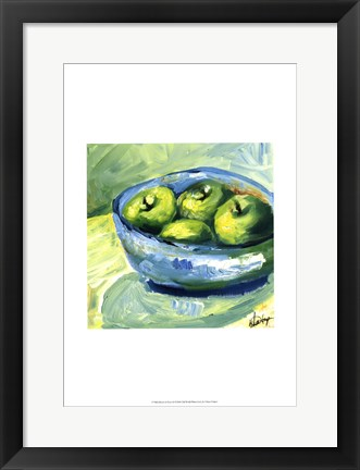 Framed Bowl of Fruit II Print