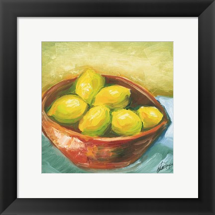 Framed Bowl of Fruit IV Print
