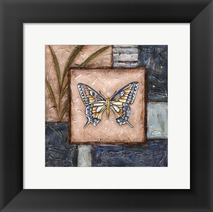 Framed Butterfly Montage I Print