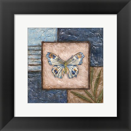 Framed Butterfly Montage II Print