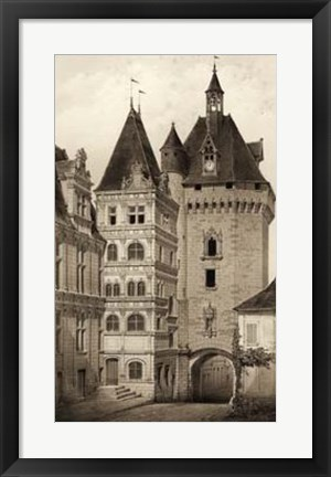 Framed Sepia Chateaux VI Print