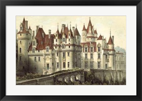Framed French Chateaux VII Print