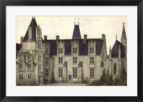 Framed French Chateaux VIII Print