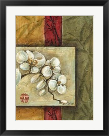 Framed Asian Orchids II Print