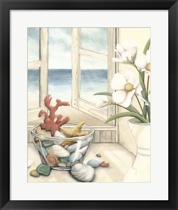 Framed Beach House View II Print