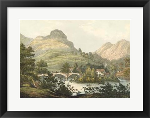 Framed English Countryside III Print