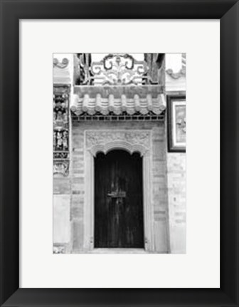 Framed Temple Door Print